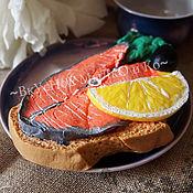 """Косметика ручной работы. Ярмарка Мастеров - ручная работа Мыло для рук """"Бутерброд с красной рыбкой"""". Handmade."""