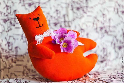 Игрушки животные, ручной работы. Ярмарка Мастеров - ручная работа. Купить Мистер Уайт - обаятельнейший кот. Handmade. Кот, рыжий