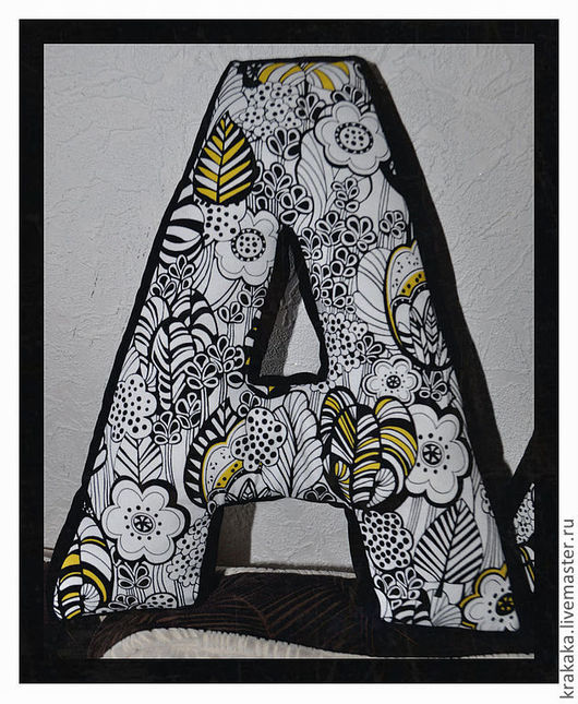 Интерьерные слова ручной работы. Ярмарка Мастеров - ручная работа. Купить Объемные буквы. Handmade. Буквы для интерьера, буквы-подушки