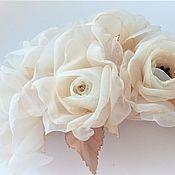 Свадебный салон handmade. Livemaster - original item Flowers made of fabric.Decoration in the hairstyle