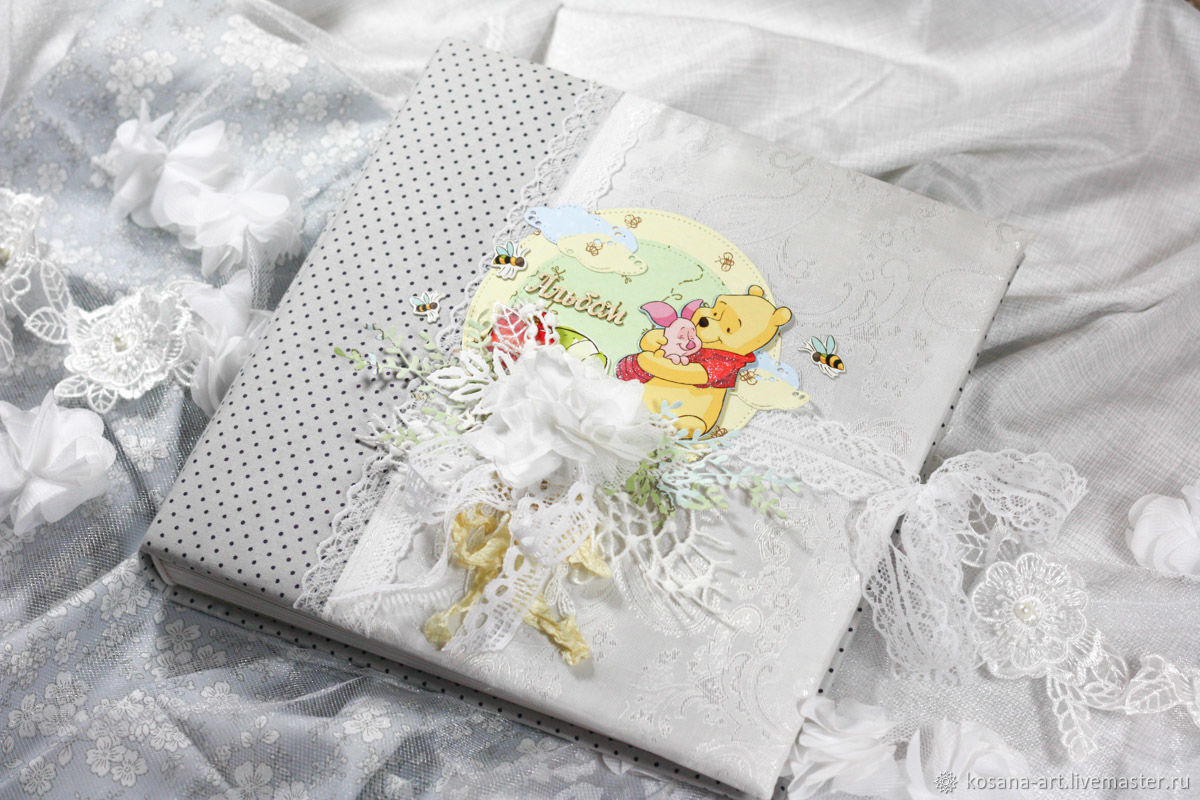 Photo Albums handmade. Livemaster - handmade. Buy Children's album 'Winnie the Pooh' universal.Gift, album for babies