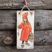 """Для дома и интерьера ручной работы. Ярмарка Мастеров - ручная работа """"Скандинавский новый год"""" Деревянная подвеска. Handmade."""