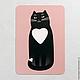 """Открытки на все случаи жизни ручной работы. Заказать открытка """"котя любит тебя"""". Ванины Следы. Ярмарка Мастеров. Почтовая открытка"""