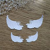 Материалы для творчества handmade. Livemaster - original item !Cutting for scrapbooking -angels WINGS, set of 4 wings. Handmade.