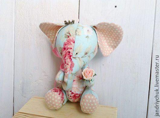 Куклы Тильды ручной работы. Ярмарка Мастеров - ручная работа. Купить Слоник. Handmade. Слоник, слон тильда, цветок, синтепон