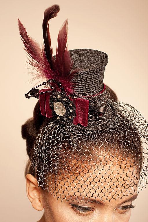 Шляпка цилиндр на ободке своими руками 43