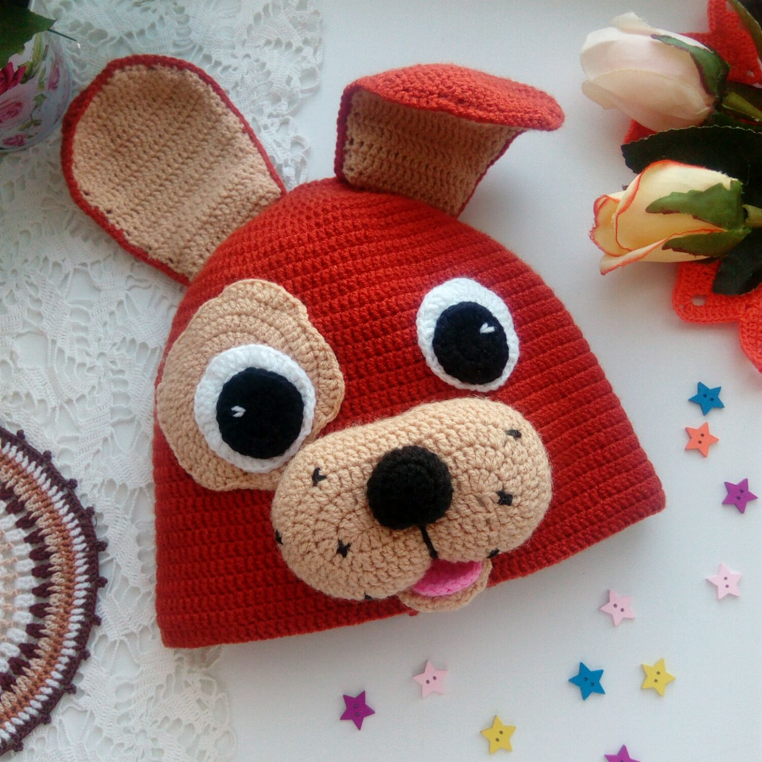 Dog - hat knitted, Suits, Berezovsky,  Фото №1
