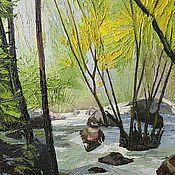 """Картины и панно ручной работы. Ярмарка Мастеров - ручная работа """"Водопад"""". Handmade."""