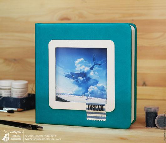 """Блокноты ручной работы. Ярмарка Мастеров - ручная работа. Купить Скетчбук """"Dream"""" для акварели. Handmade. Морская волна, альбом для рисования"""