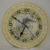 """Для дома и интерьера ручной работы. Ярмарка Мастеров - ручная работа настенные часы """"Нежность"""". Handmade."""