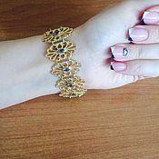 Украшения ручной работы. Ярмарка Мастеров - ручная работа Ажурный серебряный браслет ручной работы с иолитами. Handmade.