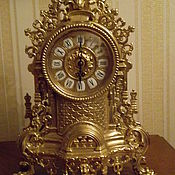 Шикарные каминные часы, Италия