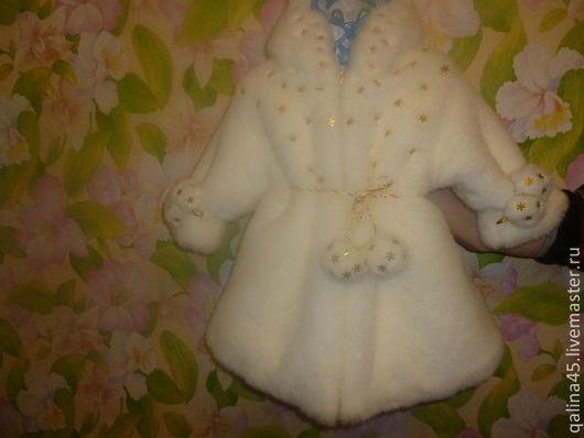 Одежда для девочек, ручной работы. Ярмарка Мастеров - ручная работа. Купить Шубка из искуственного меха Снегурочка. Handmade. Белый