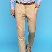 Одежда ручной работы. Ярмарка Мастеров - ручная работа Beige Cotton Pants. Handmade.