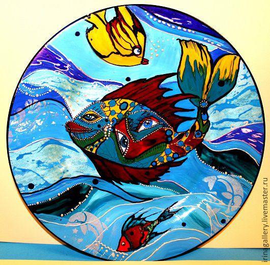 Тарелки ручной работы. Ярмарка Мастеров - ручная работа. Купить Гуляя по морским просторам. Handmade. Купить настенную тарелку