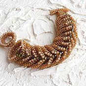 Украшения handmade. Livemaster - original item Bracelet from beads crystal dark honey. Handmade.