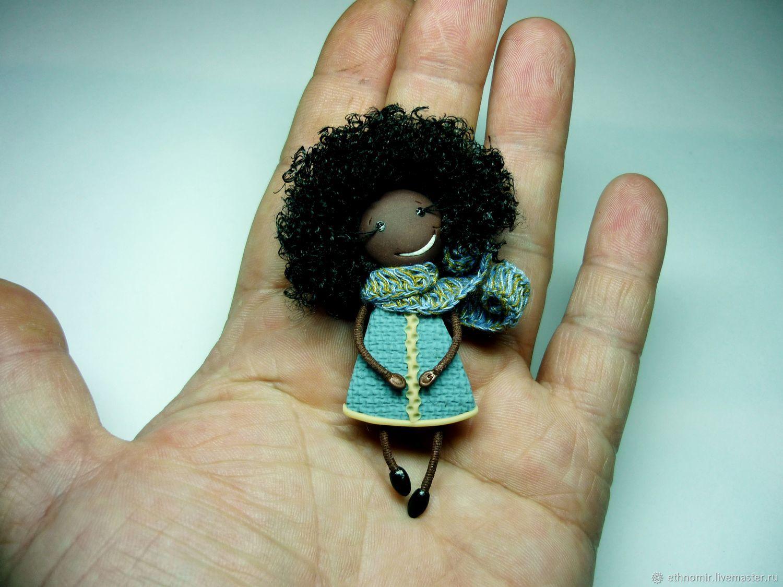 brooch - girl 'latisha, a black girl', Brooches, Irbit,  Фото №1