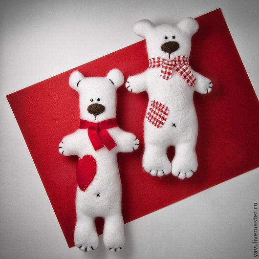 Куклы Тильды ручной работы. Ярмарка Мастеров - ручная работа. Купить Мишка. Handmade. Белый, валентинка, День Святого Валентина