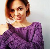 Одежда ручной работы. Ярмарка Мастеров - ручная работа Вязаный женский свитер ручной работы. Handmade.