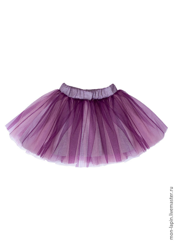Юбка для девочки фиолетовая