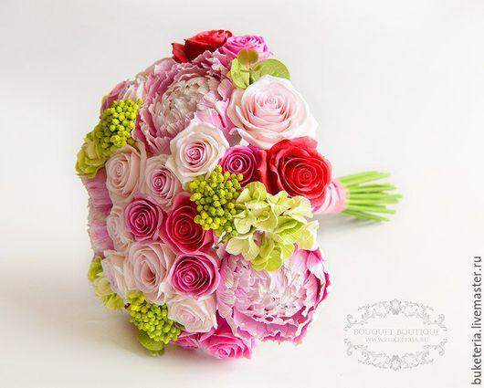 Букеты ручной работы. Ярмарка Мастеров - ручная работа. Купить Букет невесты. Handmade. Букет невесты, цветы из глины