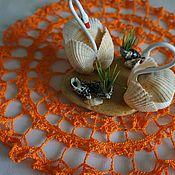 """Для дома и интерьера ручной работы. Ярмарка Мастеров - ручная работа Салфетка крючком """"Оранжевое настроение"""". Handmade."""