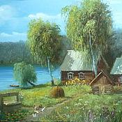 """Картины и панно ручной работы. Ярмарка Мастеров - ручная работа Картина """"Снится мне деревня"""". Handmade."""