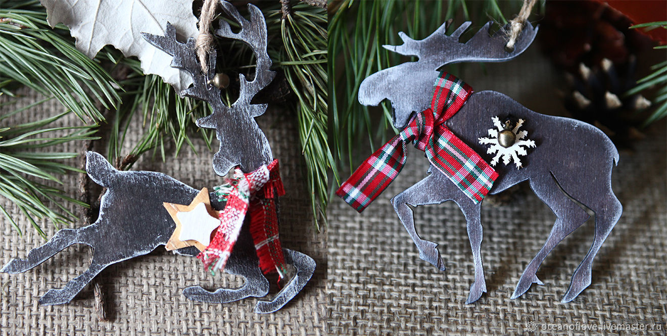 Christmas decor DEER and ELK.Iinterior suspension.Scandy, Christmas decorations, Moscow,  Фото №1