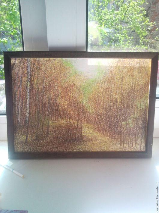 Пейзаж ручной работы. Ярмарка Мастеров - ручная работа. Купить Лесная природа. Handmade. Идея, готичный, лес, лето, глубина