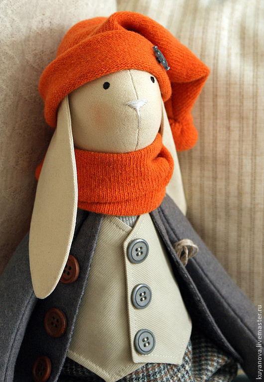 Куклы Тильды ручной работы. Ярмарка Мастеров - ручная работа. Купить Мы вместе шлёпали по лужам. Мальчик.. Handmade. оранжевый
