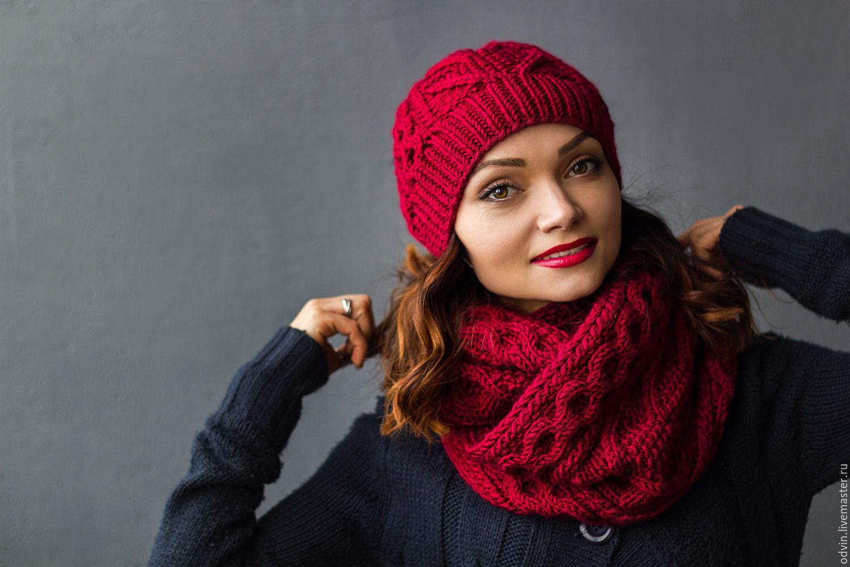 Вязание модных комплектов шапок и шарфов