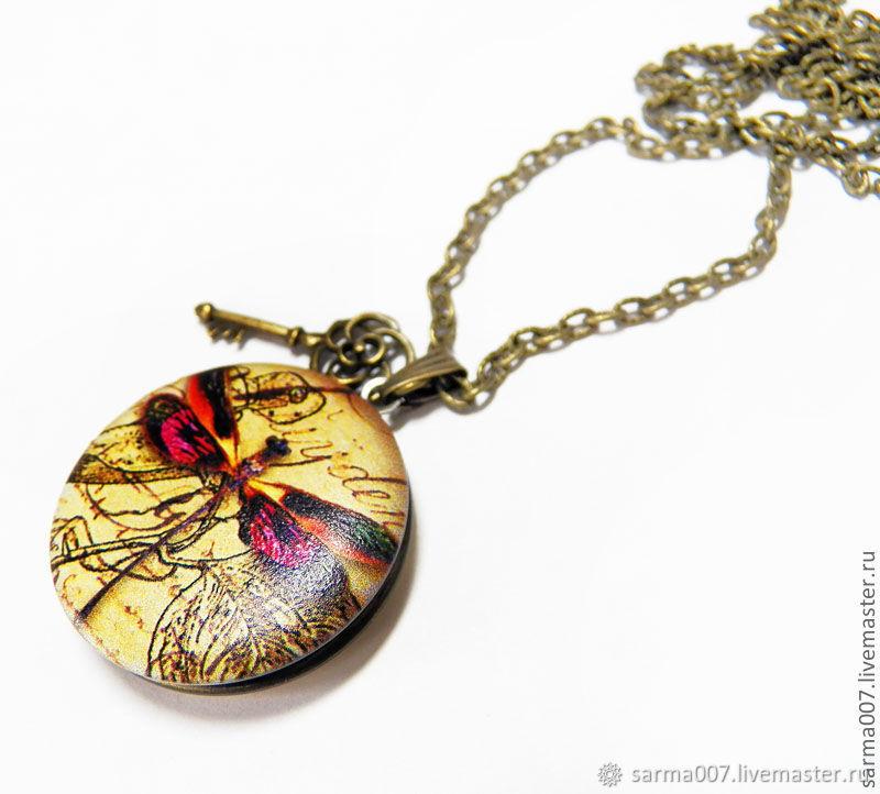 ' The memory of the heart ' locket pendant antique brass, Pendants, Voronezh,  Фото №1