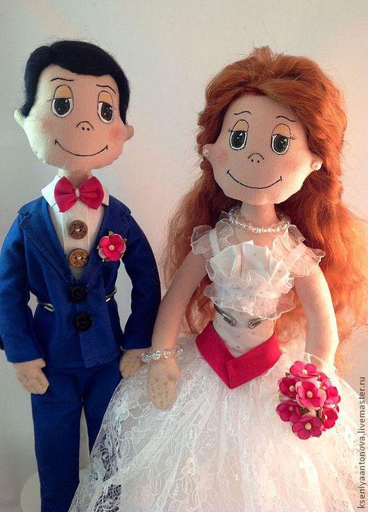 Человечки ручной работы. Ярмарка Мастеров - ручная работа. Купить Свадьба love is.... Handmade. Love is, пара, фатин