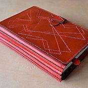 Канцелярские товары ручной работы. Ярмарка Мастеров - ручная работа кожаная обложка для книги. Handmade.