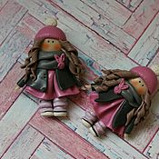 Украшения ручной работы. Ярмарка Мастеров - ручная работа Девочки брошки. Handmade.