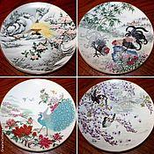Винтаж handmade. Livemaster - original item Series of plates