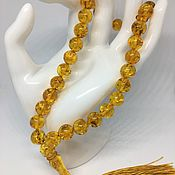 Украшения handmade. Livemaster - original item Affi rosary made of natural Baltic amber (Muslim). Handmade.