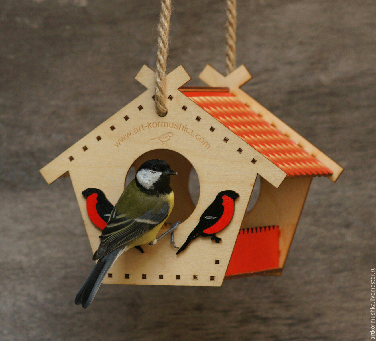 Feeder for blue Tits and bullfinches