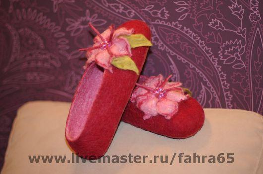 Обувь ручной работы. Ярмарка Мастеров - ручная работа. Купить Тапочки для Насти. Handmade.