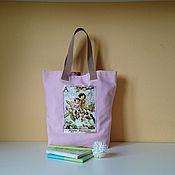 Сумки и аксессуары handmade. Livemaster - original item Pink flower Fairy tote Bag. Handmade.
