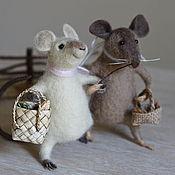 Куклы и игрушки ручной работы. Ярмарка Мастеров - ручная работа Мышки - подружки. Handmade.