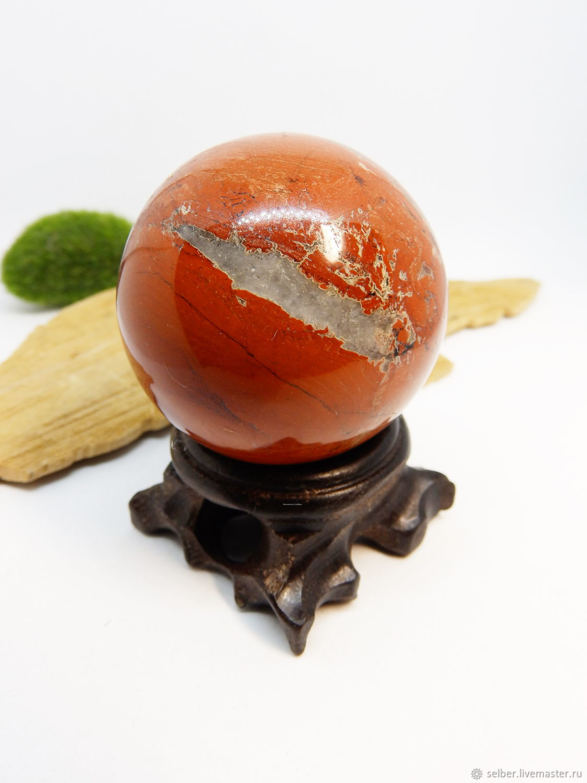 A ball of red Jasper 46 mm, Ball, Gatchina,  Фото №1