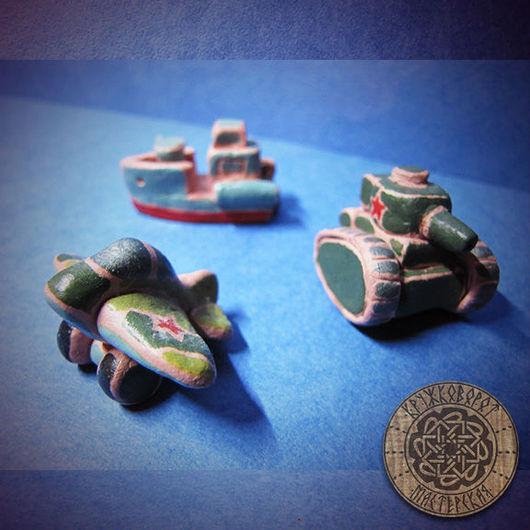 """Подарочные наборы ручной работы. Ярмарка Мастеров - ручная работа. Купить Набор сувенирных игрушек из глины """"Армия"""". Handmade. Зеленый"""