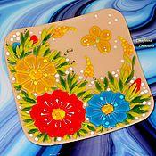 """Посуда ручной работы. Ярмарка Мастеров - ручная работа """"Лето розового цвета"""" комплект посуды из стекла, фьюзинг. Handmade."""