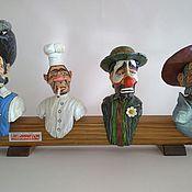 "Для дома и интерьера handmade. Livemaster - original item ""Life""- a set of 4 decorative bottle toppers. Handmade."