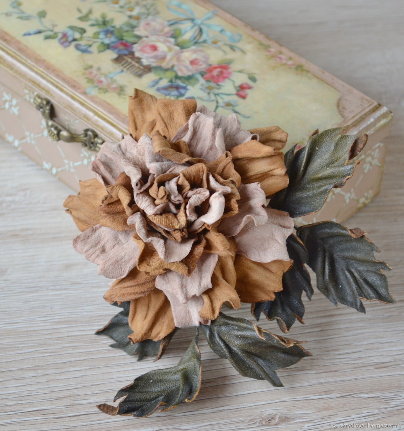 Flower Suede Rose Brooch Autumn Shop Online On Livemaster With