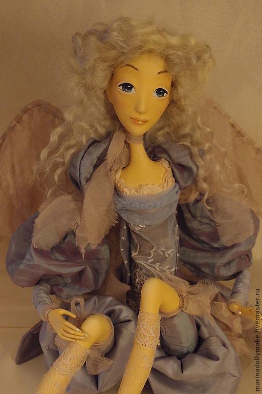 Коллекционные куклы ручной работы. Ярмарка Мастеров - ручная работа. Купить Ангел Марии-Антуанетты. Handmade. Голубой, ангел