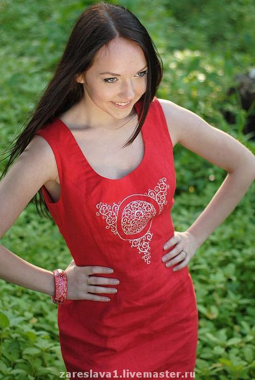 """Платья ручной работы. Ярмарка Мастеров - ручная работа. Купить Платье """"Трикветра"""" (акция!). Handmade. Красное платье, платье красное"""