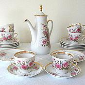 Винтаж handmade. Livemaster - original item Set coffee, vintage, porcelain, Riga, USSR. Handmade.