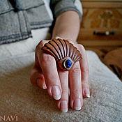 Украшения handmade. Livemaster - original item Ring with lapis lazuli Lotus. Handmade.